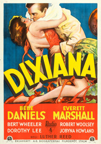 "Dixiana (RKO, 1930). Swedish One Sheet (27.5"" X 39.5"")"