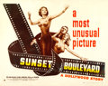 "Movie Posters:Film Noir, Sunset Boulevard (Paramount, 1950). Half Sheet (22"" X 28"") StyleA.. ..."