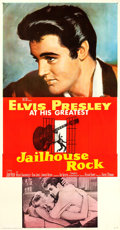 "Movie Posters:Elvis Presley, Jailhouse Rock (MGM, 1957). Three Sheet (41"" X 78.5"") Bradshaw Crandell Artwork.. ..."
