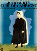 "Diary of a Country Priest (UGC, 1951). Full-Bleed French Grande (44.5"" X 61"") Paul Colin Artwork"