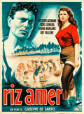 """Movie Posters:Foreign, Bitter Rice (Lux Film, 1949). French Grande (47"""" X 63"""") H. Vauclin Artwork.. ..."""