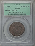 1785 Nova Constellatio Copper, Pointed Rays, Large Date, VF30 PCGS. PCGS Population: (31/220). NGC Census: (17/58). CDN:...