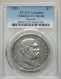 Coins of Hawaii , 1883 $1 Hawaii Dollar -- Polished -- PCGS Genuine. VF Details. NGCCensus: (2/444). PCGS Population: (1/813). CDN: $400 Whs...