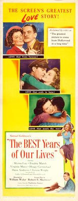 "The Best Years of Our Lives (RKO, 1946). Insert (14"" X 36"") & Program (11"" X 13"", 26 Pages)..."