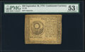 Colonial Notes, Continental Currency September 26, 1778 $50 PMG About Unci...