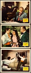 "Movie Posters:Swashbuckler, The Mark of Zorro (20th Century Fox, 1940). Lobby Cards (3) (11"" X 14"").. ... (Total: 3 Items)"