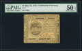 Continental Currency May 10, 1775 $7 PMG About Uncirculated 50 EPQ