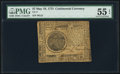 Continental Currency May 10, 1775 $7 PMG About Uncirculated 55 EPQ