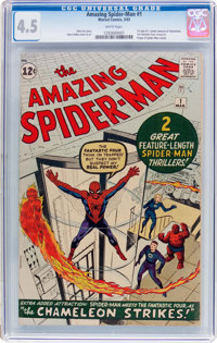 The Amazing Spider-Man #1 (Marvel, 1963) CGC VG+ 4.5 White pages
