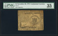 Colonial Notes:Continental Congress Issues, Continental Currency November 29, 1775 $1 PMG Choice Very Fine 35.. ...
