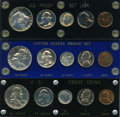 Proof Sets, 1952 Proof Set Uncertified. This lot will also include the following: 1953 Proof Set Uncertified. and a 1954 Proof Se... (Total: 15 coins)
