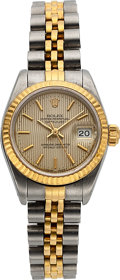Timepieces:Wristwatch, Rolex Lady's Two Tone Oyster Perpetual Datejust, circa 1984. ...