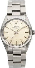 Timepieces:Wristwatch, Rolex Ref. 5500 Steel Oyster Perpetual Air King, circa 1980. ...