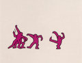 Fine Art - Work on Paper:Print, After Keith Haring . Sesame Street Break-Dancers, threeworks. Marker on overhead sheet. 11 x 12-1/2 inches (27.9 x31.8... (Total: 3 Items)