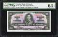 Canadian Currency, BC-24c $10 1937.. ...