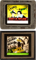 """Movie Posters:Comedy, Babes in Toyland & Other Lot (MGM, 1934). Glass Slides (2)(3.25"""" X 4"""") Al Hirschfeld Artwork.. ... (Total: 2 Items)"""