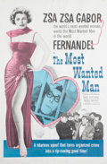 "American:Academic, A Zsa Zsa Gabor Personally-Owned Movie Poster from ""The Most WantedMan."". A 1970s-era reprinted one-sheet from the 1953 Ast..."