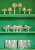 Decorative Arts, Continental, Forty Various Waterford Glasses and Stemwares, 20th century. 7-3/8inches high (18.6 cm) (tallest, wine goblet). ... (Total: 40 Items)