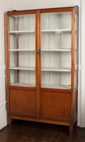 Furniture : American, An Arts and Crafts Fruitwood China Cabinet, circa 1920. 70 h x 40 wx 13-1/2 d inches (177.8 x 101.6 x 34.3 cm). ...