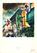 Movie Posters:Western, The Train Robbers by Renato Casaro (Warner Brothers, 1973). SignedOriginal Acrylic Poster Artwork Used on Italian 2 Fogli (...