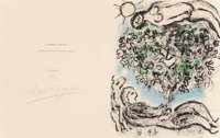 Marc Chagall (1887-1985) L'Arbre Fleuri I, 1977 Lithograph in colors on Arches paper, full margins