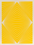 Prints & Multiples, Richard Anuszkiewicz (b. 1930). Untitled (Yellow), 1965. Screenprint in colors on laid paper. 22-1/4 x 17-1/4 inches (56...