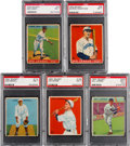 Baseball Cards:Lots, 1933 Goudey Baseball PSA NM 7 Collection (5). ...
