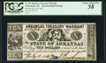 Obsoletes By State:Arkansas, (Little Rock), AR- State of Arkansas Treasury Warrant $10 July 18, 1862 Cr. 55 Inverted Back Error . ...