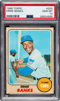 Baseball Cards:Singles (1960-1969), 1968 Topps Ernie Banks #355 PSA Gem Mint 10....