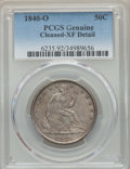 Seated Half Dollars: , 1840-O 50C -- Cleaning -- PCGS Genuine. XF Details. NGC Census: (17/87). PCGS Population: (41/107). CDN: $250 Whsle. Bid f...