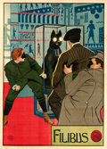 "Movie Posters:Mystery, Filibus (Corona, 1915). Italian 4 - Fogli (55"" X 78"").. ..."