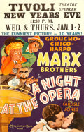 "Movie Posters:Comedy, A Night at the Opera (MGM, 1935). Window Card (14"" X 22"") AlHirschfeld Artwork.. ..."
