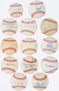 Autographs:Baseballs, Baseball Greats Signed Baseball Lot of 13.. ...