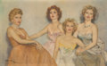 Paintings, Fried Pal (Hungarian/American, 1893-1976). Portrait of Zsa Zsa with Mother, Jolie and Sisters, Eva and Magda, 1950-60s. ...