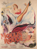 "American:Academic, A ""Moulin Rouge"" French Grande Film Poster.. United Artists, 1952,vibrant artwork depicting an image of Gabor as ""Jane Avri..."