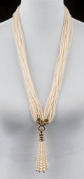 American:Academic, A Zsa Zsa Gabor Group of Designer Jewelry, Circa 1980s.. Twopieces; the first a faux pearl multi-strand necklace with rhine...(Total: 2 Items)