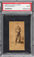 Baseball Cards:Singles (Pre-1930), 1887-90 N172 Old Judge Ed Delahanty (#123-3) PSA EX 5....