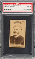 Baseball Cards:Singles (Pre-1930), Very Rare 1887-90 N172 Old Judge Harry Wright Portrait/Looking Left(#510-3) PSA VG 3....