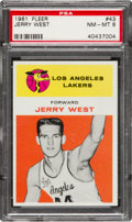 Basketball Cards:Singles (Pre-1970), 1961 Fleer Jerry West #43 PSA NM-MT 8. Jerry West ...
