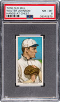 Baseball Cards:Singles (Pre-1930), 1909-11 T206 Old Mill Walter Johnson (Hands at Chest) PSA NM-MT 8 -Pop Two, None Higher. ...