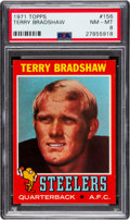 Football Cards:Singles (1970-Now), 1971 Topps Terry Bradshaw #156 PSA NM-MT 8. Terry ...