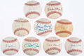 Autographs:Baseballs, Baseball Greats Signed Baseball Lot of 9.. ...