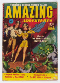 Amazing Adventures #5 (Ziff-Davis, 1951) Condition: GD/VG