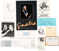 Movie/TV Memorabilia:Documents, A Frank Sinatra Archive of Paperwork and Other Documents,1970s-1990s....