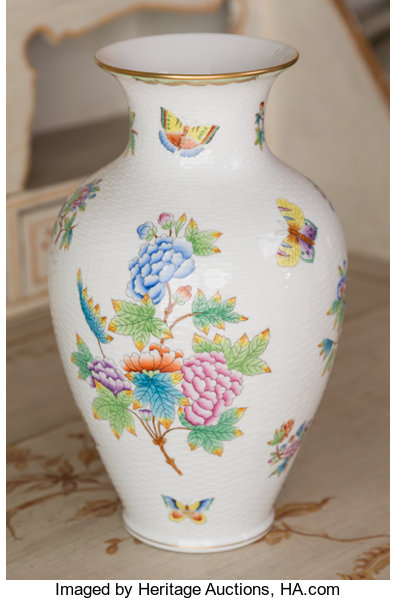 A Herend Queen Victoria Pattern Porcelain Vase Herend Hungary