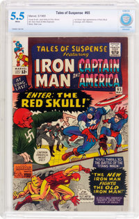 Tales of Suspense #65 (Marvel, 1965) CBCS FN- 5.5 White pages