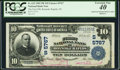 Error Notes:National Bank Note Errors, Roanoke Rapids, NC - $10 1902 Plain Back Fr. 633 The First NB Ch. # (S)5767. ...
