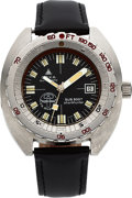 Timepieces:Wristwatch, Doxa Sub 300T Sharkhunter Aqualung Steel Automatic. ...