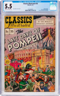 Golden Age (1938-1955):Classics Illustrated, Classics Illustrated #35 The Last Days of Pompeii (Gilberton, 1947)CGC FN- 5.5 Cream to off-white pages....
