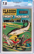 Golden Age (1938-1955):Classics Illustrated, Classics Illustrated #47 Twenty Thousand Leagues Under the Sea(Gilberton, 1948) CGC FN/VF 7.0 Cream to off-white pages....